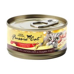 Fussie Cat - 金鑽系列南瓜湯煮雞肉+雞肝純天然貓罐頭 - 80 克