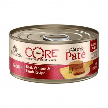 Wellness 寵物健康 - CORE 無穀物牛肉、鹿肉拼羊肉貓罐頭 - 5.5 安士