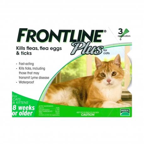 FRONTLINE - Plus 貓用殺蚤除牛蜱滴頸藥水 - 3 管