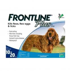 FRONTLINE - Plus 犬用殺蚤除牛蜱滴頸藥水 (10-20 公斤適用) - 3 管