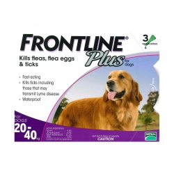 FRONTLINE - Plus 犬用殺蚤除牛蜱滴頸藥水 (20-40 公斤適用) - 3 管