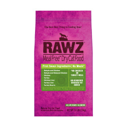RAWZ - 脫水雞肉、火雞肉、雞肉全貓乾糧 - 7.8 磅