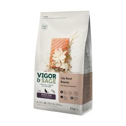 VIGOR & SAGE - 百合美毛三文魚成貓糧 - 10 公斤