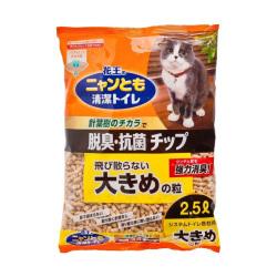日本花王 KAO - 針葉樹木砂 6 毫米 - 2.5 公升