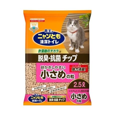 日本花王 KAO - 針葉樹木砂 4 毫米 - 2.5 公升