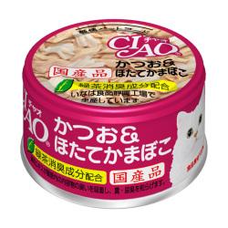 CIAO - 鰹魚、瑤柱棒貓罐頭 - 85 克