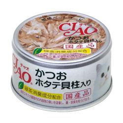 CIAO - 鰹魚、元貝柱貓罐頭 - 85 克