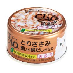 CIAO - 雞肉、鯛魚、鯛魚湯底貓罐頭 - 85 克