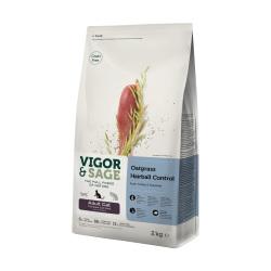 VIGOR & SAGE - 燕麥草去毛球雞肉成貓糧 - 400 克