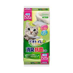 unicharm - 無香消臭抗菌砂盆尿墊 - 20 片