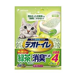 unicharm - 消臭綠茶紙貓砂 - 4 公升