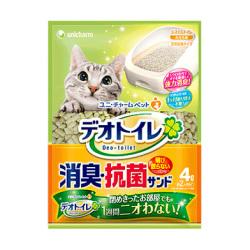 unicharm - 消臭抗菌沸石貓砂 - 4 公升