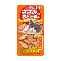 INABA - 雞肉小魚燒、雞湯味貓小食 - 25 克 到期日:2020-09-24