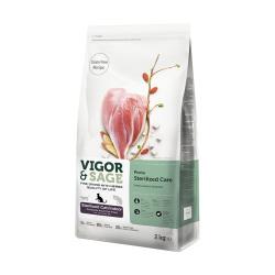 VIGOR & SAGE - 荷葉護理室內成貓糧 - 2 公斤 到期日:2020-10-10