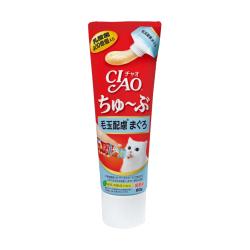 CIAO - 唧唧超奴 400 億個乳酸菌化毛球吞拿魚醬 (牙膏裝) - 80 克