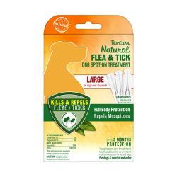 TropiClean - 純天然精油滅蚤及蜱蟲點滴 (大型犬用) - 3x5 毫升