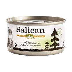 Salican - 鮮雞肉鴨肉配方貓罐頭 (清湯) - 85 克