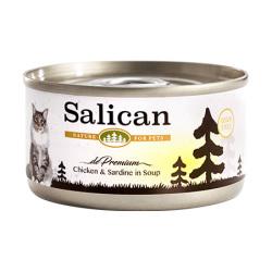 Salican - 鮮雞肉沙甸魚配方貓罐頭 (清湯) - 85 克