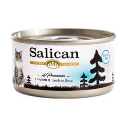 Salican - 鮮雞肉羊肉配方貓罐頭 (清湯) - 85 克
