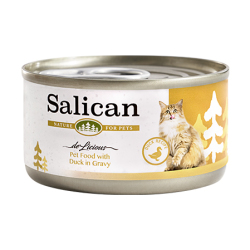 Salican - 鴨肉配方肉汁貓罐頭 - 85 克
