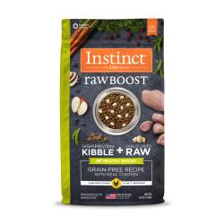 Instinct 生鮮本能 - Raw Boost 原食生鮮無穀物雞肉狗糧 (健康體重) - 4 磅