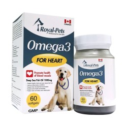 Royal-Pets - 純正奧米加 3 魚油丸 - 60 粒 到期日:2021-12-30
